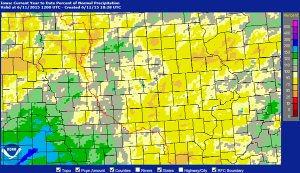 Iowa Precipitation Map