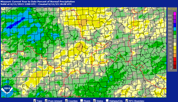 Missouri Precipitation Map