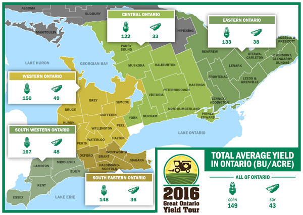 2016 Great Ontario Yield Tour Region Data