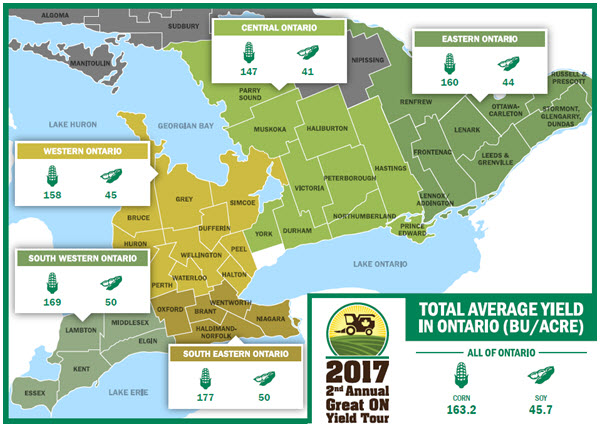 2017 Great Ontario Yield Tour Region Data