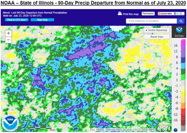 illinois precipitation map