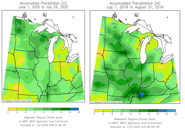 accumulated precipitation map midwest us